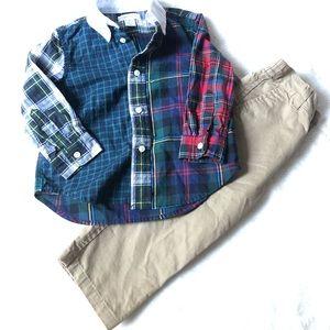 18 months Ralph Lauren button down shirt & khakis